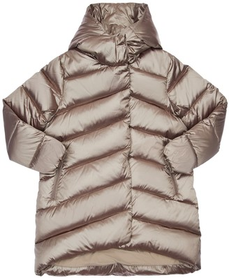Bomboogie Hooded Metallic Nylon Down Coat
