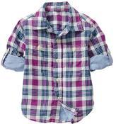 Gap Convertible plaid shirt
