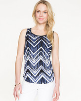 Le Château Chevron Print Combo Sweater Shell