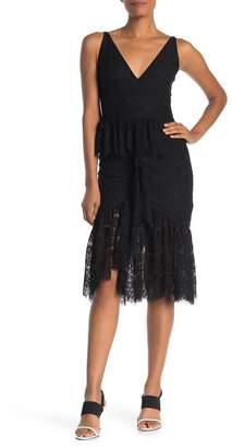 Yumi Kim La Vida Ruffle Lace Midi Dress