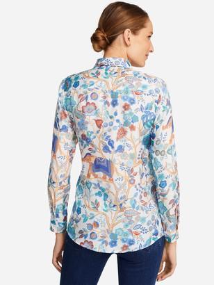 J.Mclaughlin Lois Silk Shirt in Sucre Blossom