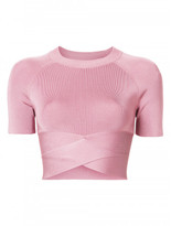 Alexander Wang Criss cross raglan top