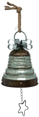 Transpac Metal Small Silver Christmas Bell Decor