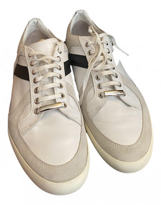 Christian Dior White Leather Trainers