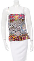 Christian Lacroix Embroidered Silk Top w/ Tags