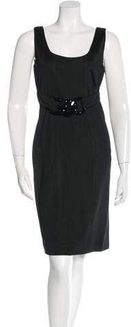 Versace Belted Sheath Dress