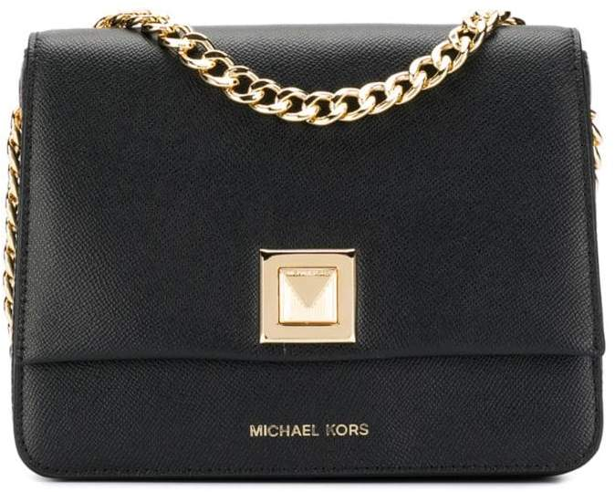 8777ec6e9 Black Bag With Gold Chain Michael Kors - ShopStyle