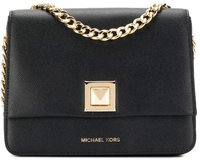 8777ec6e9 Black Bag With Gold Chain Michael Kors - ShopStyle