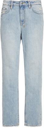 Ksubi Slim Pin High-Rise Cropped Jeans