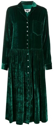MM6 MAISON MARGIELA Velvet Shirt Dress