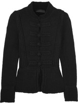 Co Pointelle-trimmed Wool Cardigan - Black