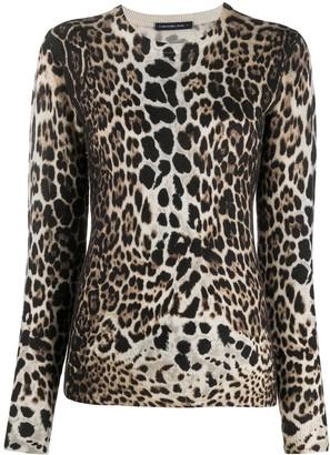 Samantha Sung Leopard Print Cashmere Jumper