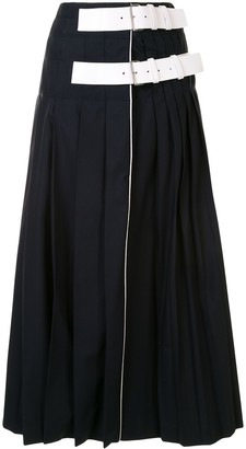 Dice Kayek Pleated Wrap Skirt