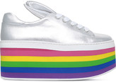 Minna Parikka Over the Rainbow leather flatform trainers