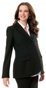A Pea in the Pod Button Front Bi-stretch Suiting Maternity Jacket