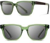 Shwood Women's 'Prescott' 52Mm Acetate & Wood Sunglasses - Black/ Ebony/ Grey