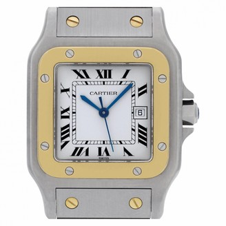 Cartier Santos GalbAe White gold and steel Watches