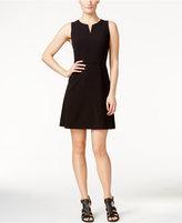 Kensie Sleeveless Split-Neck A-Line Dress