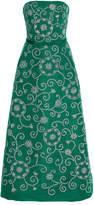 Oscar de la Renta Strapless Embellished Cocktail Dress