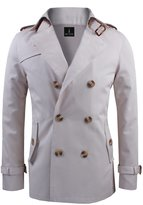 Tom's Ware Mens Premium Cotton Wide Collar Neck with Double Buttoned Jacket TWCJ08-S