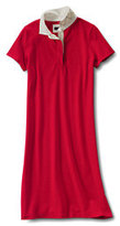 Classic Women's Plus Size Short Sleeve Rugby Polo Dress-Toasted Rye