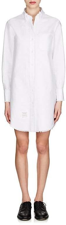 Thom Browne Women's Frayed Cotton Oxford Cloth Shirtdress