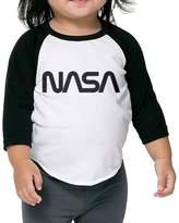 SARHT NASA Logo Kids 3/4 Raglan Baseball T Shirts
