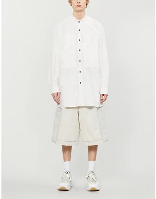 Acne Studios Band-collar cotton-twill shirt