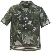 Valentino Green Cotton Tropical Shirt