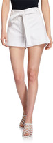 Veronica Beard East Tie-Waist Stretch-Cotton Shorts