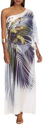 Jets One-Shoulder Printed Kaftan