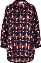 Apricot Multi-Coloured Retro Print Cold Shoulder Shirt