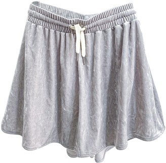 Weekday Silver Shorts for Women
