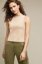 Anthropologie Textured Mockneck Tank