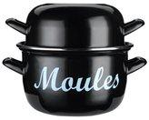 """Kitchen Craft Mediterranean"""" Mussels Pot, Black, 18 cm"""