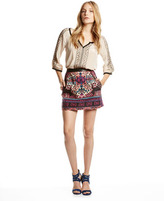 Nanette Lepore Ritual Embroidered Short Skirt
