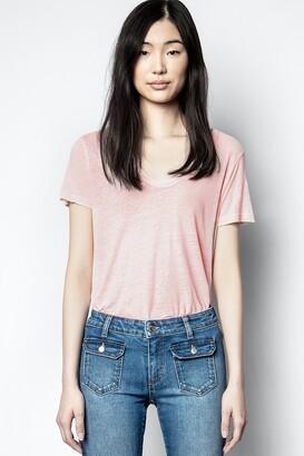 Zadig & Voltaire Atal Lin Henley T-shirt