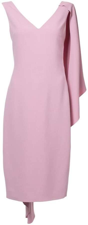 Cushnie half cape pencil dress