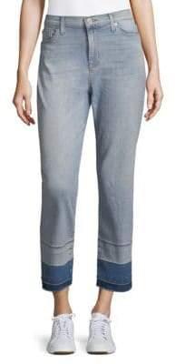 Hudson Zooey Released Hem Cropped Straight-Leg Jeans