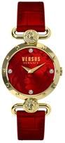 Versus By Versace Women's 'sunnyridge' Leather Strap Watch, 34Mm