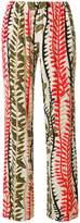 Alberta Ferretti leaf print trousers