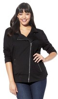 Mossimo Women's Plus-Size Long-Sleeve Quilted Moto Jacket - Assorted Colors