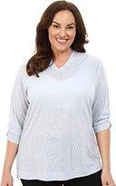 Columbia Women's Plus-Size See Through You Burnout Hoodie