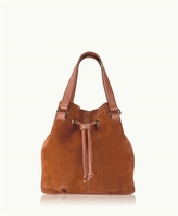 GiGi New York Jolie Bucket Bag French Nubuck Suede