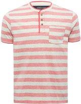 M&Co Striped Grandad Neck T-shirt