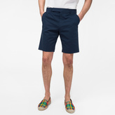 Paul Smith Men's Dark Petrol Stretch Cotton-Twill Shorts