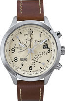 Timex IQ Classic Mens Brown Leather Strap Chronograph Watch T2N932AB