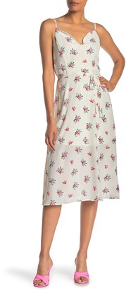 Rowa Scallop Neck Midi Dress