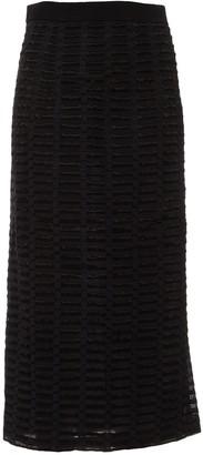Barbara Casasola Black Silk Skirt for Women