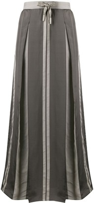 Lorena Antoniazzi Box Pleat Drawstring Maxi Skirt
